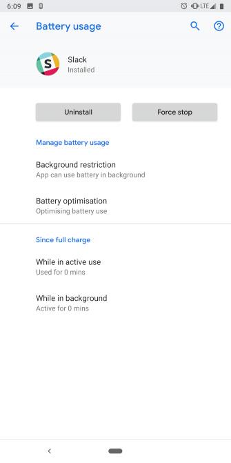 تنظیمات مصرف باتری برنامه ها در اندروید